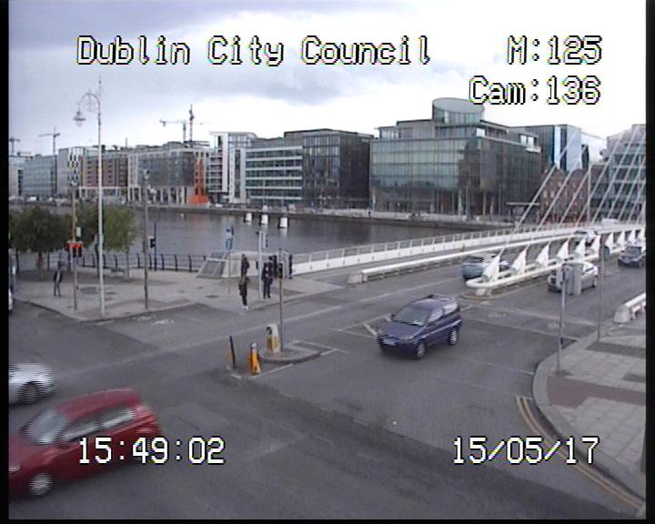 Dublin, Samuel Beckett bridge Live Cam, Ireland
