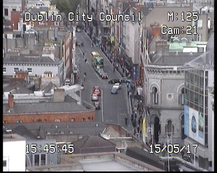 Dame St from Civic Offices