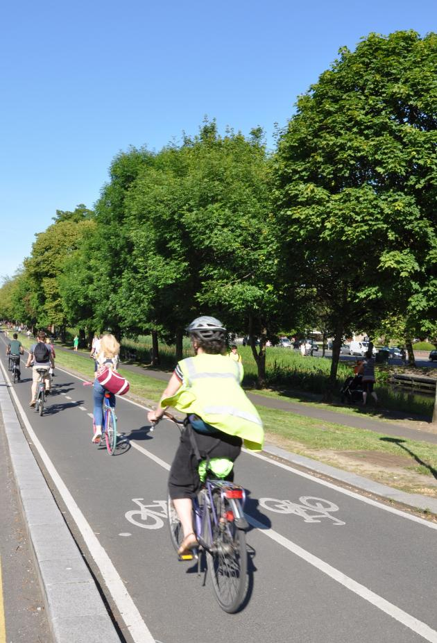 Grand Canal cycle lane