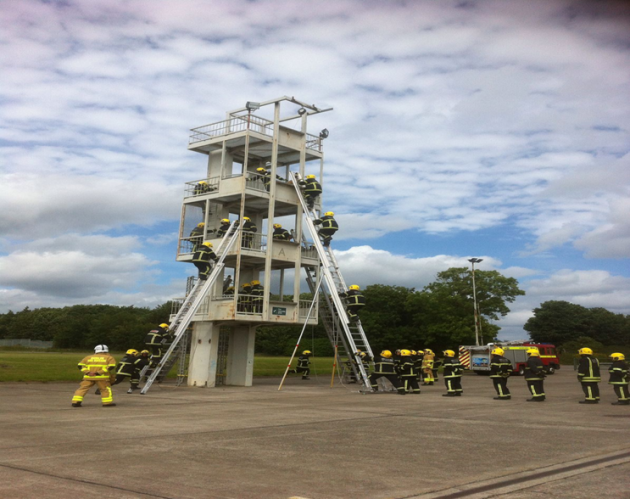 Image of fire fighter training